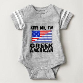 Kiss Me I'm Greek American Infant Bodysuit