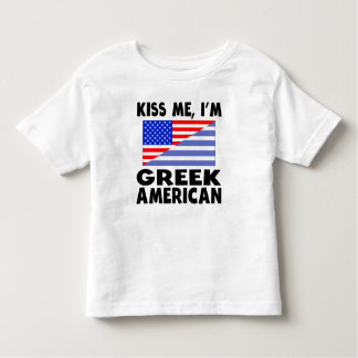 Kiss Me I'm Greek American T-shirt