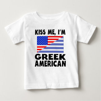 Kiss Me I'm Greek American T Shirt