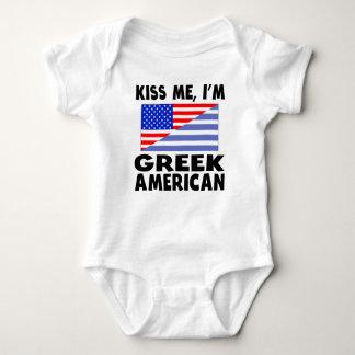 Kiss Me I'm Greek American Tee Shirt