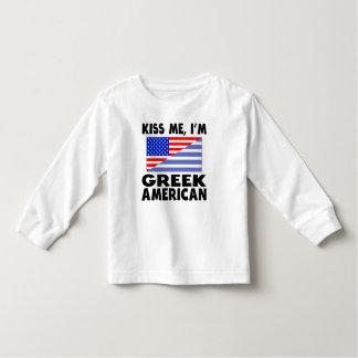 Kiss Me I'm Greek American Tshirt