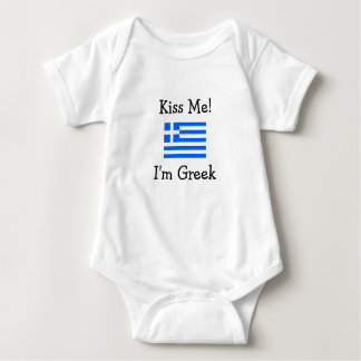 Kiss Me! I'm Greek Baby Bodysuit