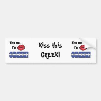 Kiss Me I'm Greek Bumper Sticker