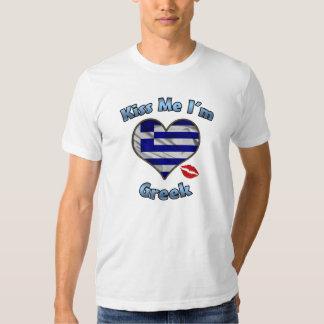 Kiss Me I'm Greek Flag T-Shirt