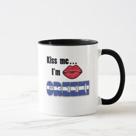 Kiss Me I'm Greek Mug