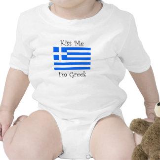 Kiss Me I'm Greek Rompers
