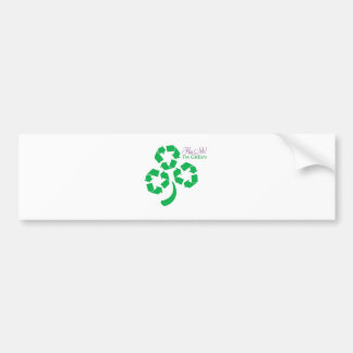 Kiss Me I'm Green Bumper Sticker