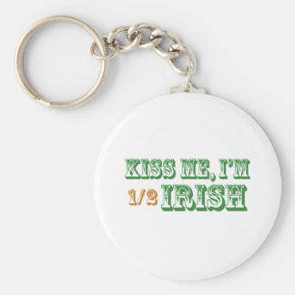 Kiss Me I'm Half Irish Keychain