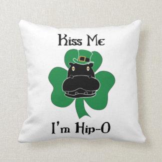 Kiss Me I'm Hip-O Throw Pillow