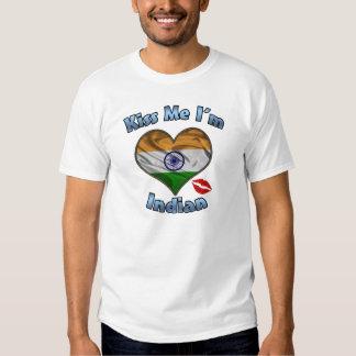 Kiss Me I'm Indian Flag T-Shirt