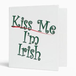 Kiss Me I'm Irish 1 3 Ring Binders