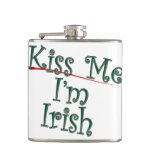 Kiss Me I'm Irish 1 Hip Flask