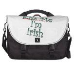 Kiss Me I'm Irish 1 Laptop Bags