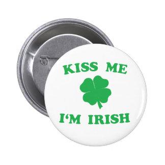 Kiss Me I'm Irish 2 Inch Round Button