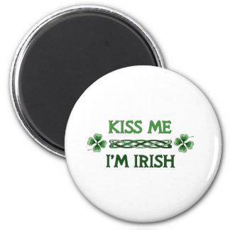 Kiss Me, I'm Irish 2 Inch Round Magnet