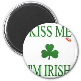 Kiss Me Im Irish 2 Inch Round Magnet