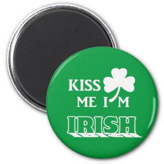 Kiss me I'm Irish 2 Inch Round Magnet