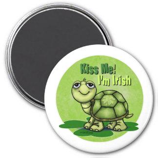 Kiss me I'm Irish 3 Inch Round Magnet