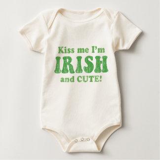 Kiss Me I'm IRISH and CUTE! Baby Bodysuit