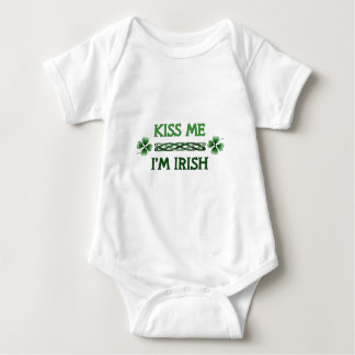 Kiss Me, I'm Irish Baby Bodysuit
