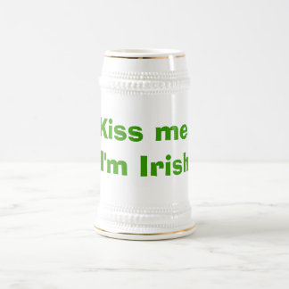Kiss me, I'm Irish Beer Stein