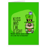 Kiss Me I'm Irish, Blarney Cat Greeting Cards