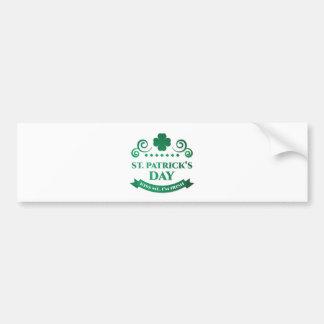kiss me i'm irish bumper sticker