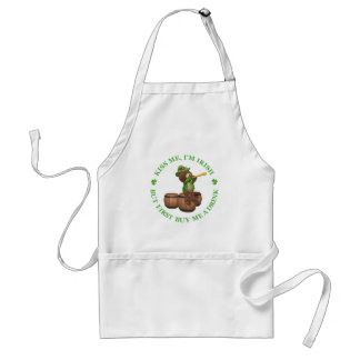 Kiss me, I'm Irish - But First Buy Me A Drink Adult Apron