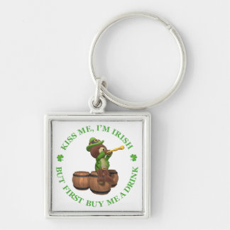 Kiss me, I'm Irish - But First Buy Me A Drink Keychain