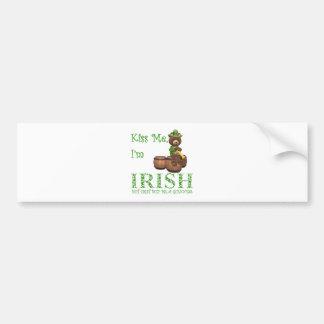 Kiss Me I'm Irish, but First Buy Me A Guinness Car Bumper Sticker