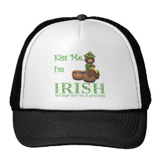 Kiss Me I'm Irish, but First Buy Me A Guinness Trucker Hat