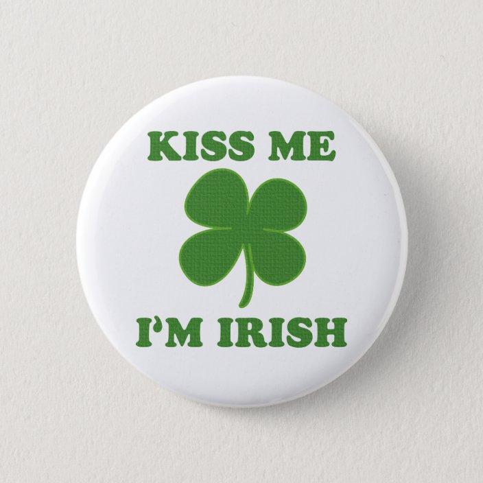 Funny Humor Sweatshirt Red Kiss Me Im Irish