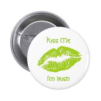Kiss Me I'm Irish Pinback Button
