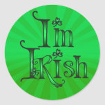 KISS ME I'M IRISH by SHARON SHARPE Sticker
