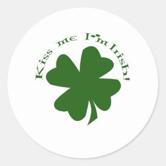 Kiss Me I'm Irish Classic Round Sticker