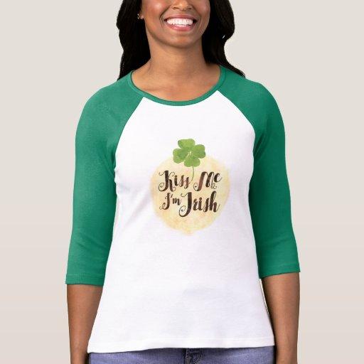 """Kiss Me I'm Irish"" & Clover St. Patty's Day TS27 T-shirts"