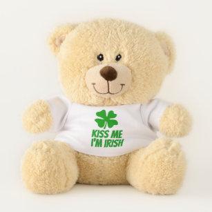 Kiss Me I m Irish cute St Patrick s Day teddy bear 9415ec696303