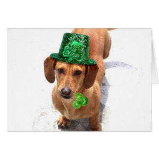 Kiss me I'm Irish Dachshund greeting card