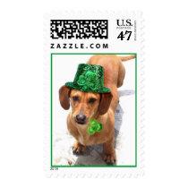 Kiss me I'm Irish Dachshund postage