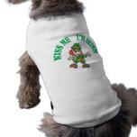 Kiss Me I'm Irish Dancing Leprechaun Dog Shirt