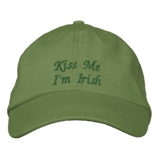 Kiss Me I'm Irish Embroidered Cap / Hat