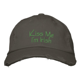Kiss Me I'm Irish Embroidered Embroidered Hat