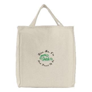 Kiss Me I'm Irish Embroidered Tote Bag