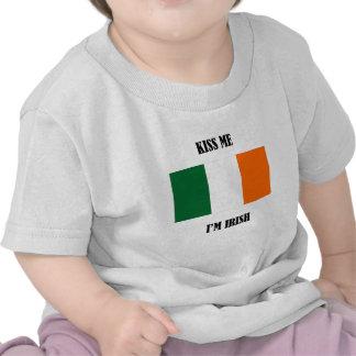 Kiss Me I'm Irish - Flag Tshirt