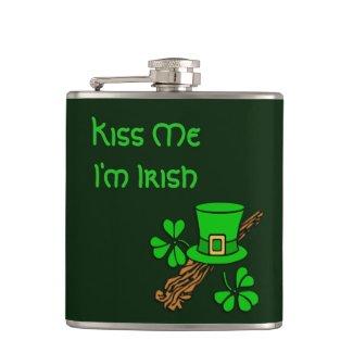 Kiss Me I'm Irish Flask