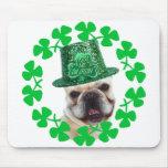 Kiss me I'm Irish French Bulldog mousepad
