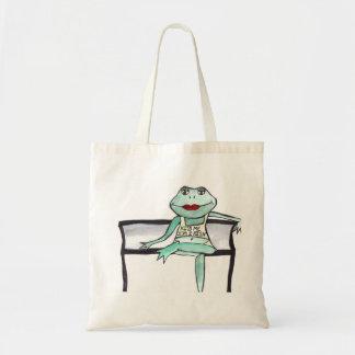 """Kiss me, I'm Irish"" Frog Canvas Bags"
