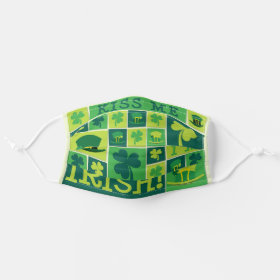 Kiss me I'm Irish Funky Pattern Cloth Face Mask