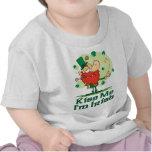 Kiss Me I'm Irish Funny Leprechaun Tshirts