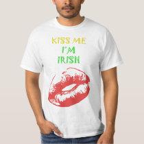 Kiss Me I'm Irish Funny T Shirt